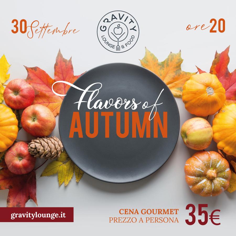 Gravity cena d'autunno 30 settembre