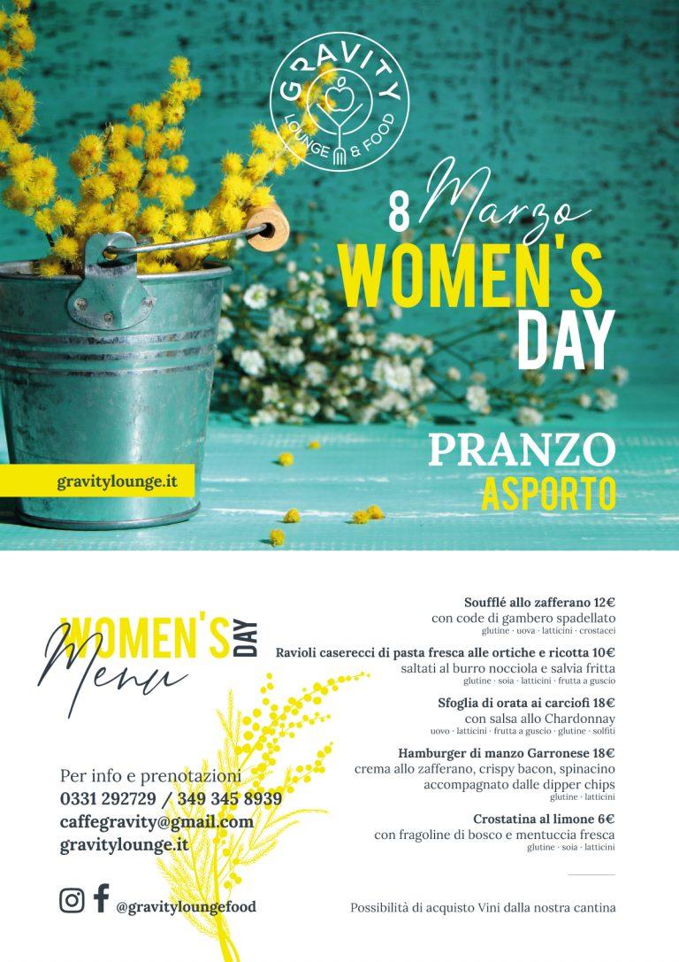 Festa della donna Gravity 8 marzo 2021